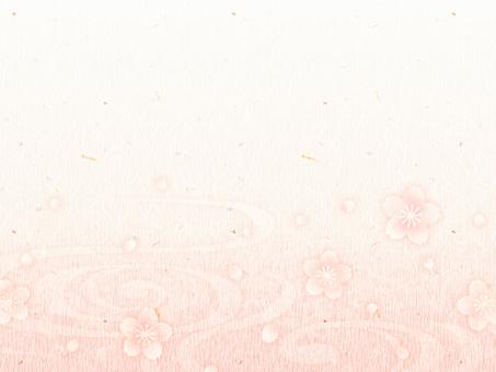 背景(和紙_桜03_横)