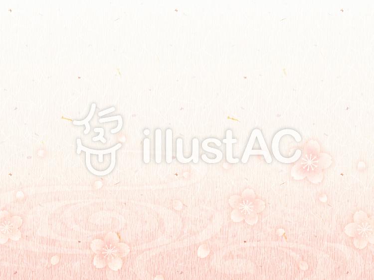背景(和紙_桜03_横)のイラスト