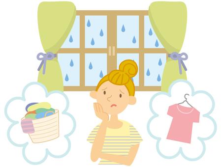 Laundry in the rainy season