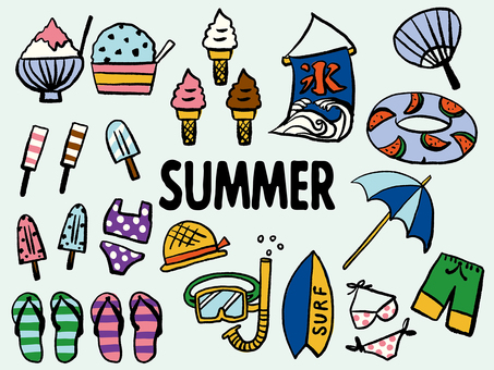 Summer material set