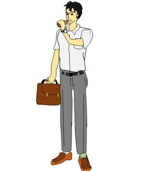 A company employee who drinks nutritional drinks