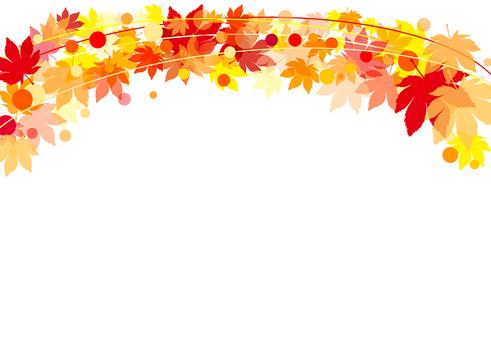 秋のもみじフレーム