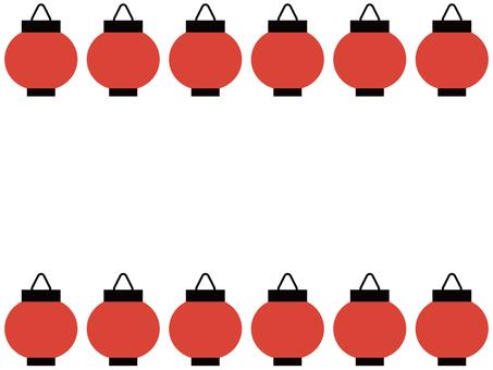 Red lantern frame / frame