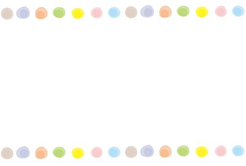 Frame handwriting watercolor dot dots ball