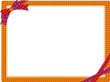 Autumn color ribbon frame