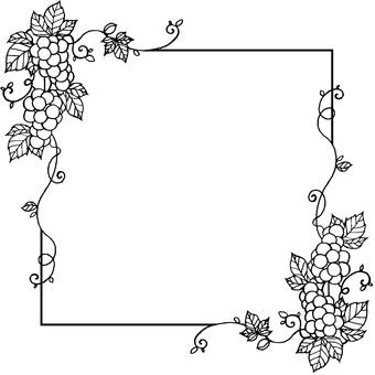 Grape frame (black and white)