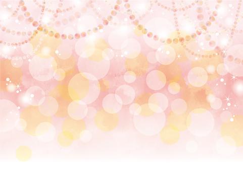 丸いっぱいのパーティー背景2 ピンク