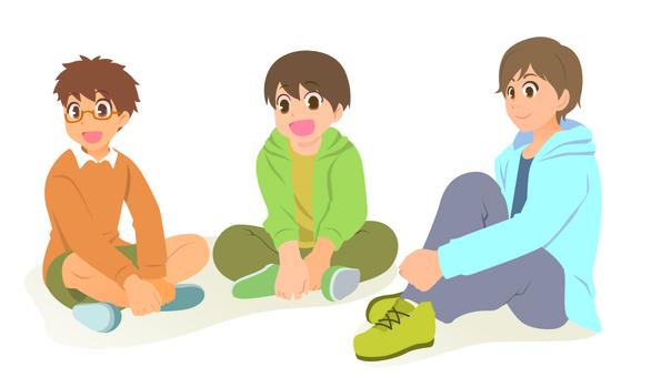 Three boys to sit