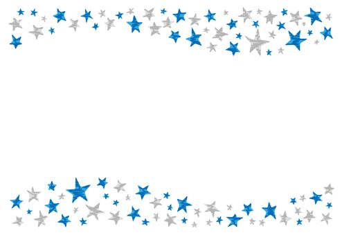 Glittering star frame 2