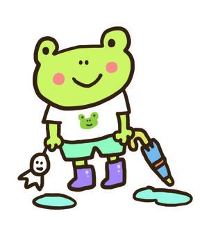 개구리 비오는 날
