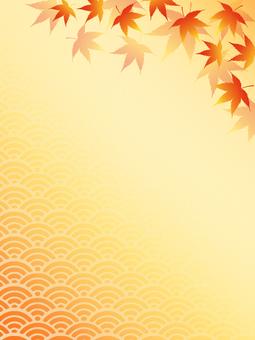 Japanese style autumn leaves 7