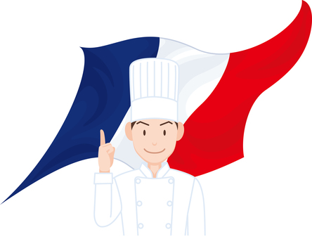 Chef French flag French