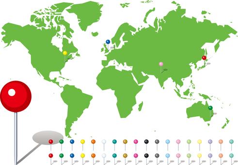 World map map pin