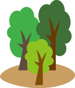 Three trees and turf