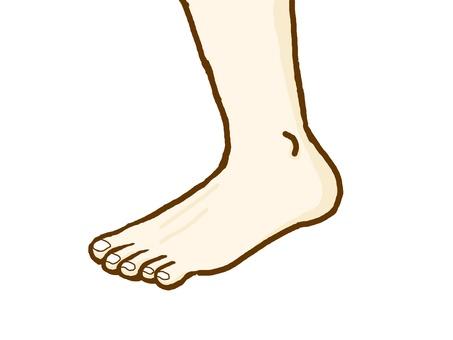 left foot.