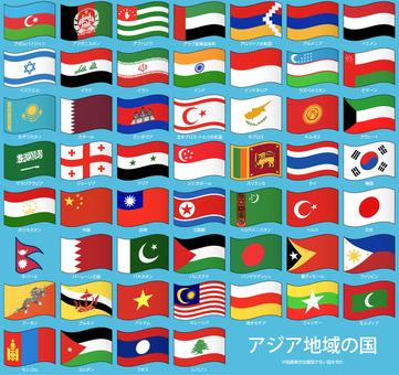 Flapping flag / Asia region