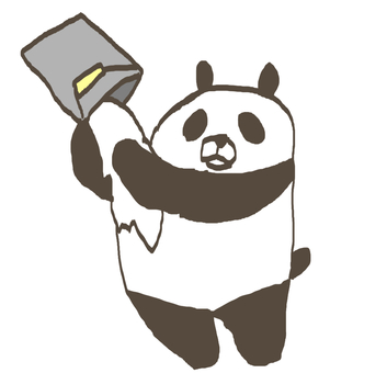 Stop panda! ! That is white paint