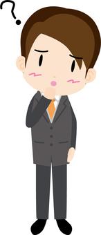 Salary man (worried)