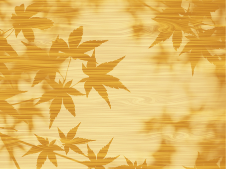 Texture of autumn leaves of wood grain