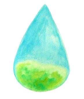 물방울 속의 초원