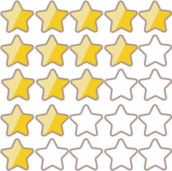 5 star table icon (B)