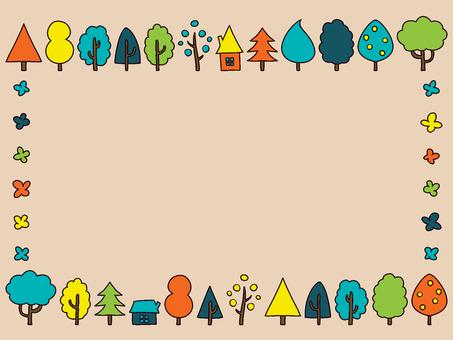 Scandinavian little colorful frame
