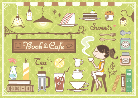 Book book & cafe set