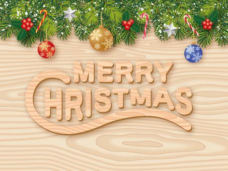 Christmas card _ wood grain _ ornament