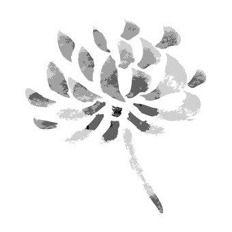 Ink painting, chrysanthemum