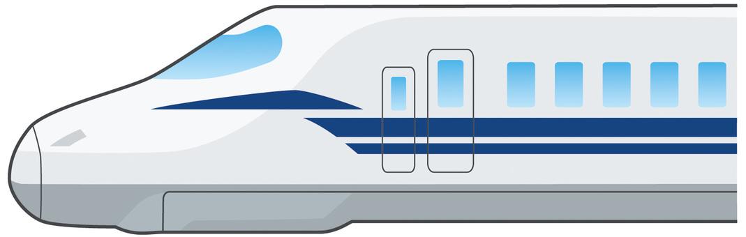 横から見た新幹線(N700S似)