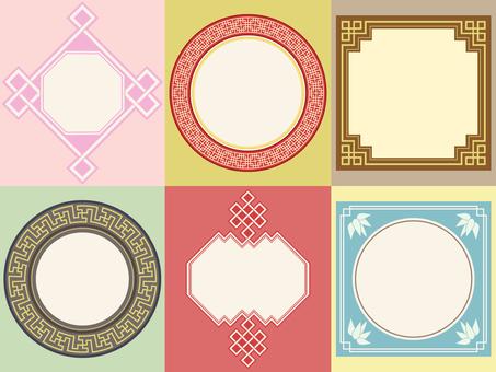 패턴 - 중국 문양 프레임