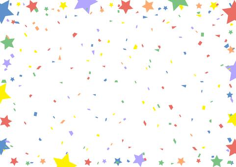 Confetti Star Frame