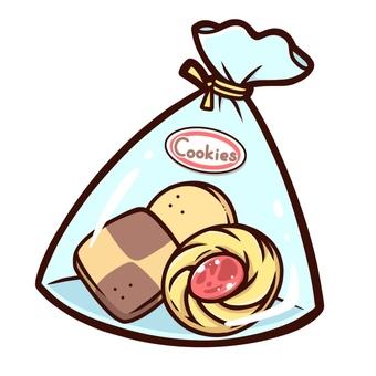 가방에 들어간 쿠키