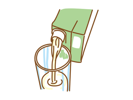 How to pour the soymilk correctly