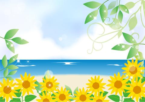 Sunflower _ Sea _ Blue background