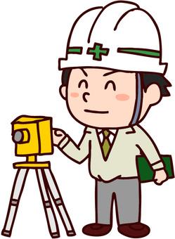 Surveying man