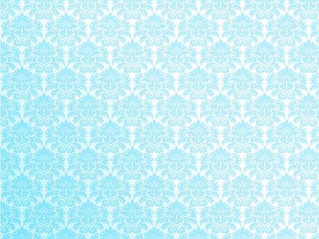 Damask pattern blue