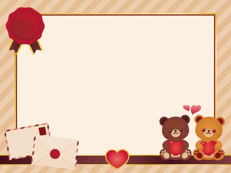Letter bear-chan frame