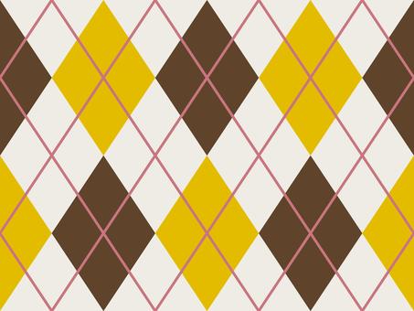 Wallpaper Argyle Lateral Loop Yellow Brown × Brown