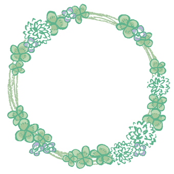 Wild flower frame (circle)