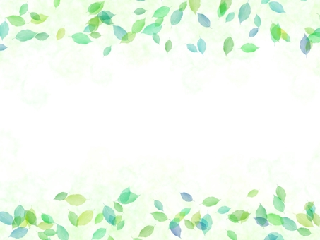 잎 프레임 수채화