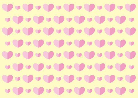 Wallpaper - Heart 2 colors - Pink