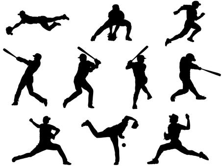 Baseball silhouette 2