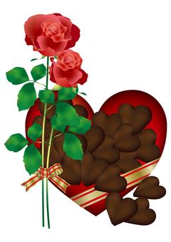 Heart Chocolate & Rose 15