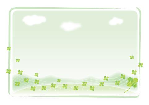 클로버와 밝은 녹색 배경