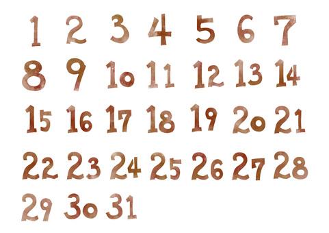 Calendar material * Date number * color