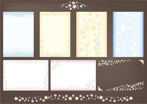 Floral print card set