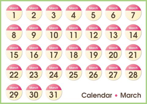 Calendar circle March