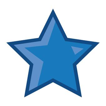Pop blue star