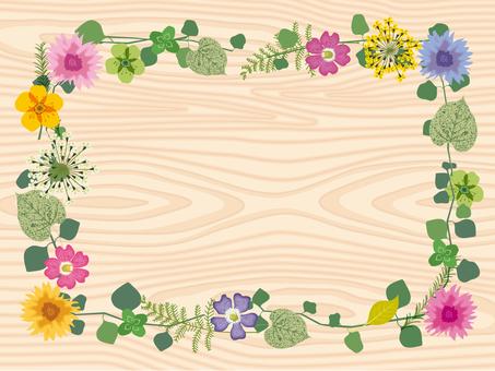 春天的花朵_框架_木紋2
